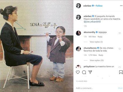 El pasado abril, para felicitar a su hijo José Eduardo por su cumpleaños, Eugenio compartió una foto en la que no recortó a Victoria