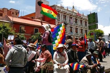 Manifestación en apoyo a Evo Morales en La Paz el 18 de noviembre (REUTERS/David Mercado)