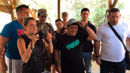 Diego junto a Rocío y Walter en Jordania