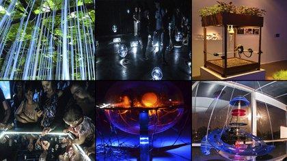 Diferentes obras que se encuentran en la Bienal Kosice