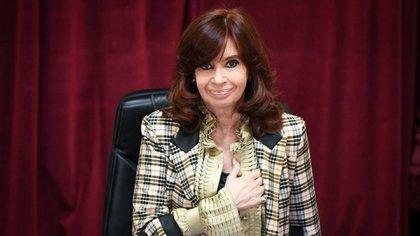 Cristina Fernández de Kirchner en la Cámara de Senadores