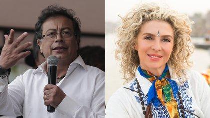 Senador Gustavo Petro y Margarita Rosa de Francisco, actriz colombiana. Fotos: Colprensa.