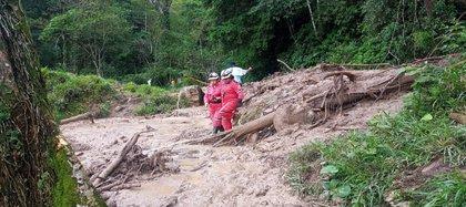 Fuerzas de rescate y autoridades civiles y militares están despejando vías terciarias por emergencia invernal