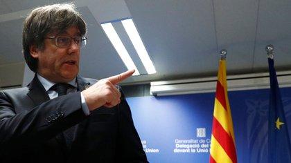 El ex presidente catalán e impulsor del independentismo, Carles Puigdemont, quien se encuentra ahora prófugo de la justicia española y exiliado en Bélgica (Reuters)