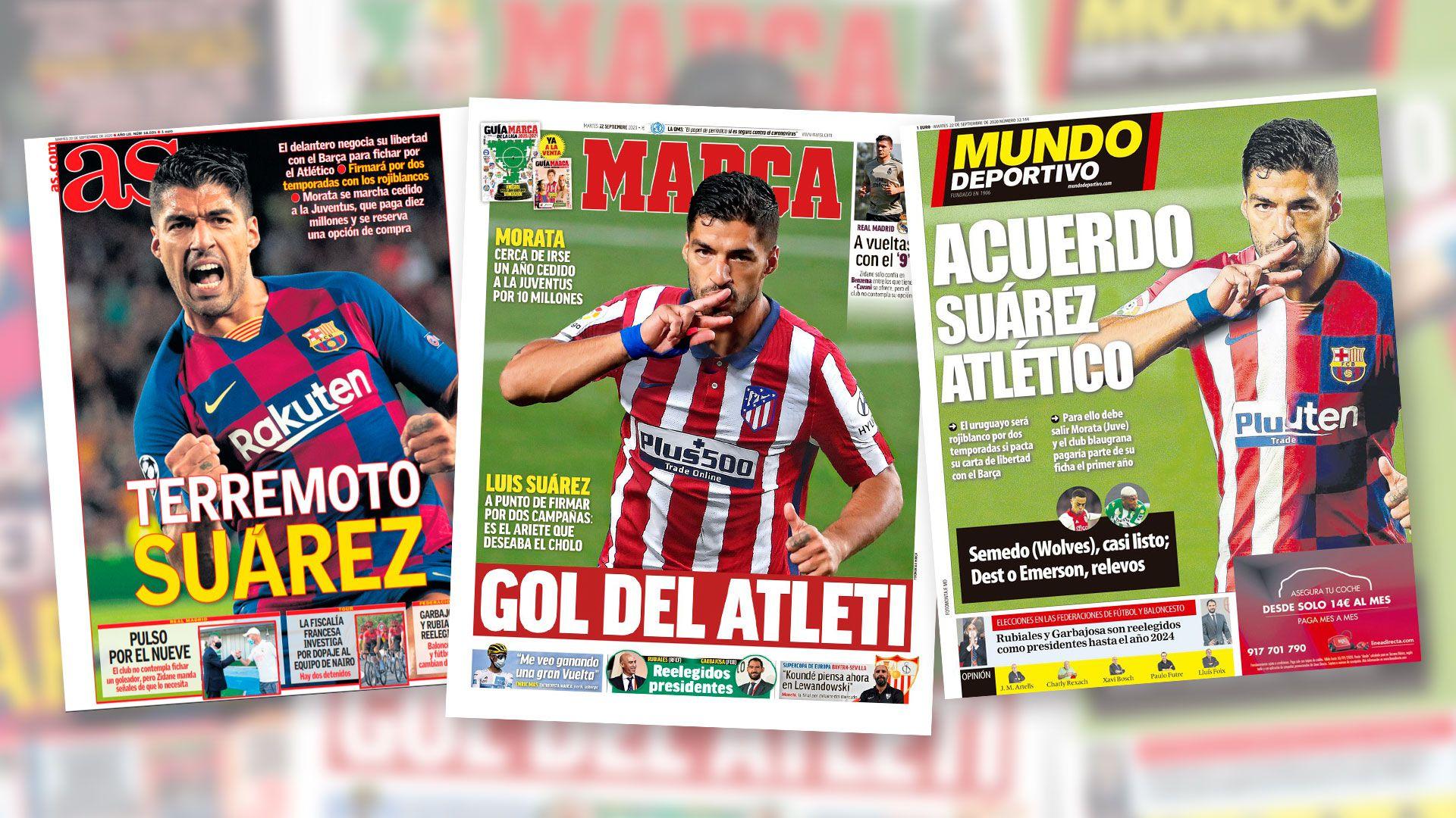 Portada Luis Suárez Atlético Madrid