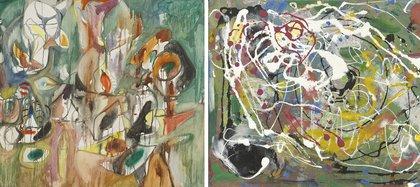 """""""Un año el algodoncillo"""" (1944), Arschile Gorki y """"Verano"""" (1944-45), de Hans Hoffman"""