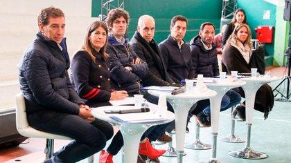 Horacio Rodríguez Larreta, Diego Santilli, Martín Lousteau, Guadalupe Tagliaferri y Maximiliano Ferraro