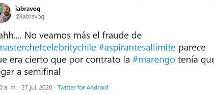 A Rocío Marengo la acusan de fraude (Foto: Twitter)