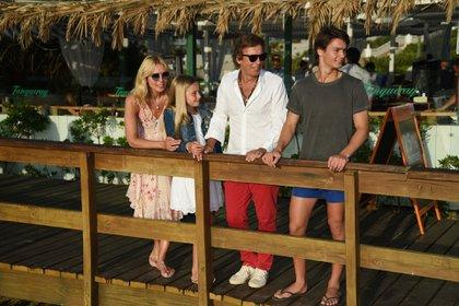 La familia disfruta de unos días de vacaciones en Punta del Este (Fotos: OVO Beach)