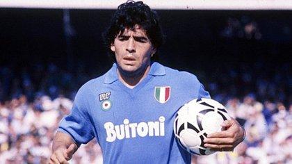 Diego Maradona jugó en el Napoli entre 1984 y 1991
