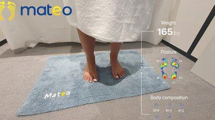 La alfombra identifica peso, postura y composición corporal del usuario.