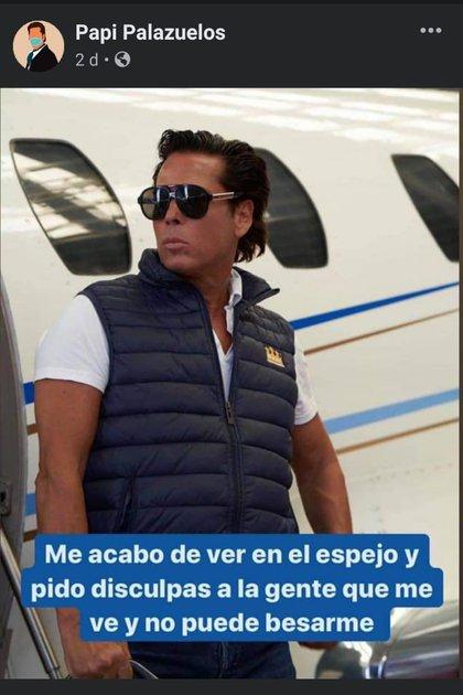 Esta es una de las imágenes que se difunden como meme sobre Palazuelos (Foto: captura de pantalla/Facebook)