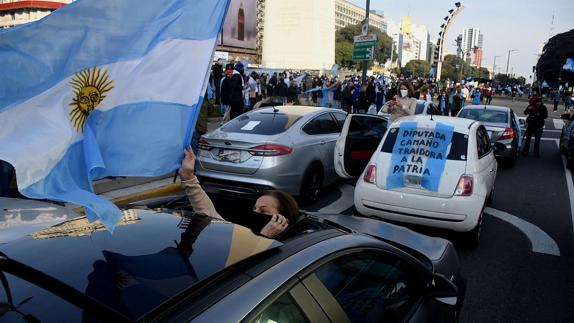 Movilización en el Obelisco en contra de la reforma judicial - 1 de agosto