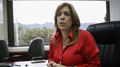 Clara Luz Roldán gobernadora del Valle del Cauca. Foto (Colprensa - Juan Páez).