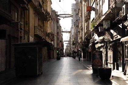 La calle Florida, vacía durante la cuarentena (Franco Fafasuli)