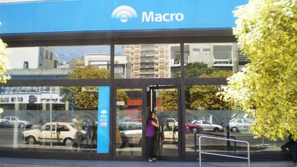 Una de las sucursales de Banco Macro