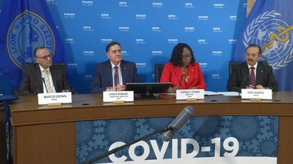 """La Organización Panamericana de la Salud (OPS) enviará a partir de la próxima semana misiones de apoyo a países de la región que """"conllevan un mayor riesgo"""" por la epidemia del nuevo coronavirus, entre ellos Haití y Venezuela, dijeron el viernes autoridades del organismo."""