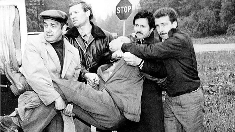 AEl momento del arresto de dolf Tolkachev en Moscú