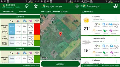 Booster Agro provee 5 variables agrometeorológicas.