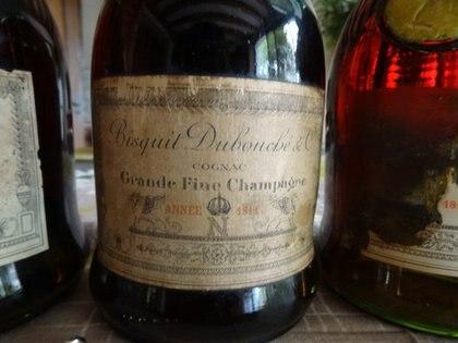 Botella de Coñac de 1811.Foto: Facebook