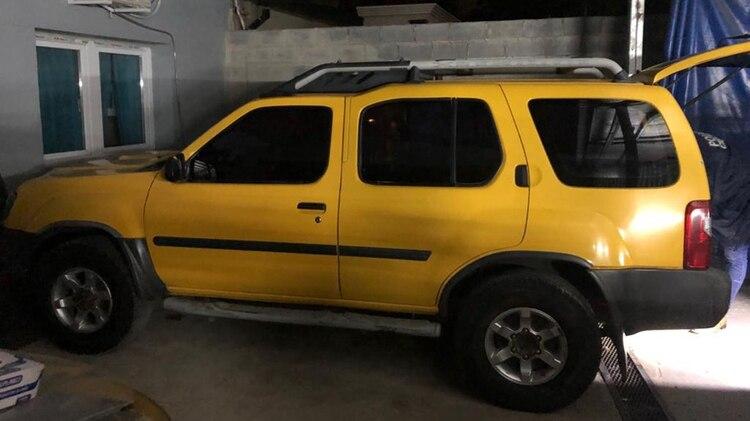 La camioneta Nissan X Terra amarilla que conducía Abel Casimiro Campos