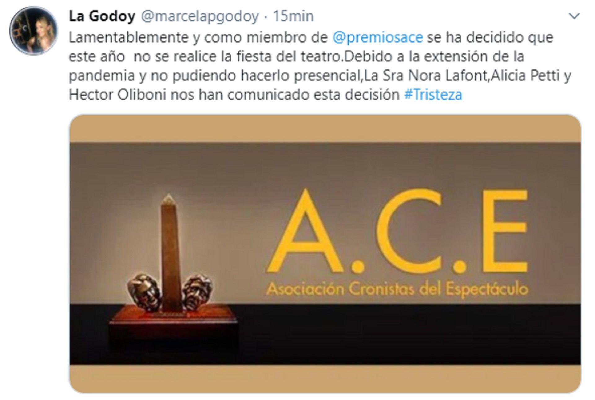 El mensaje de Marcela Godoy