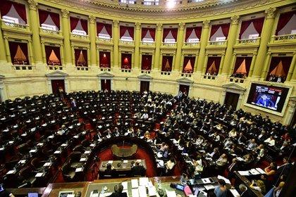 El bloque de Cambiemos en la Cámara de Diputados (Amilcar Orfali)