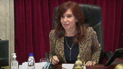 Cristina Fernández en la sesión del 7 de octubre, día de la Virgen del Rosario
