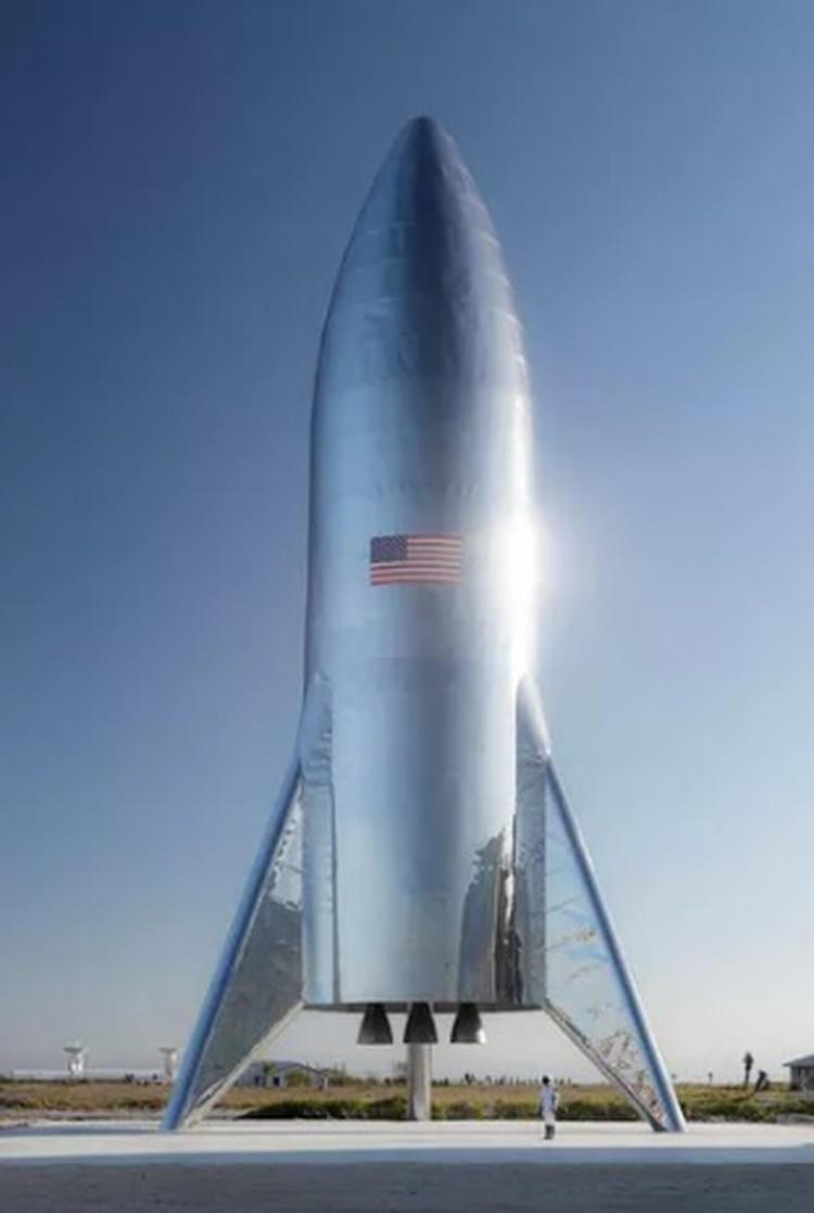 Una ilustración de Starship, la nave que busca construir SpaceX (Foto: Twitter SpaceX)