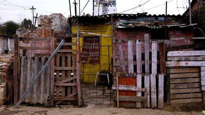 Casa-rancho de un conglomerado de familias pobres del Gran Buenos Aires