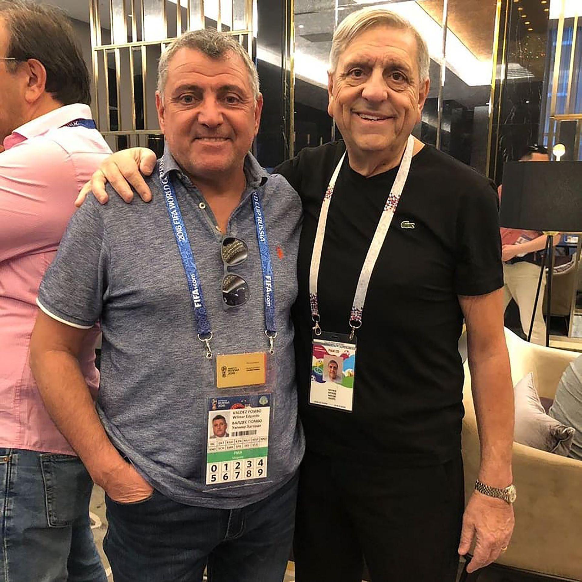 """Wilmar Valdéz (izquierda) José """"Pino"""" Marciano (derecha) (@c.a.rentistas)"""
