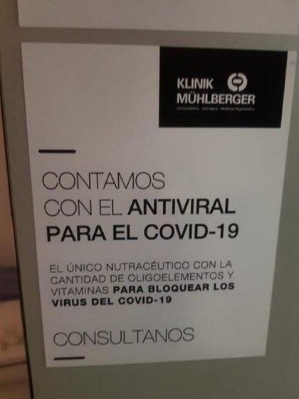 """""""Contamos con el antiviral para el COVID-19"""", anunciaba Rubén Mühlberger"""