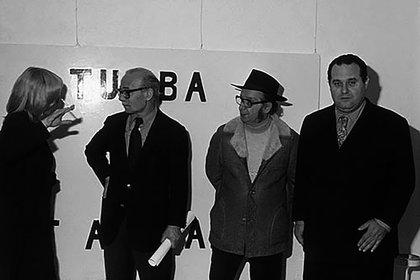 Marta Minujin, Ernesto Sabato, Antonio Berni y Federico Peralta Ramos (Centro Cultural Recoleta)