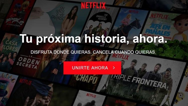 """En algunos países ya no se puede """"probar"""" el servicio; desde el inicio hay que pagar (Foto: Netflix)"""