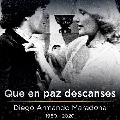 Mirtha Legrand y Maradona
