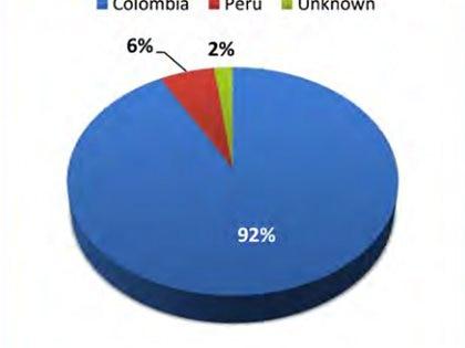 El origen de la cocaína que se consume en EEUU