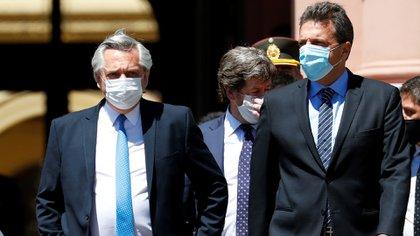 El jueves Massa se reunió con el Presidente y los principales integrantes del Frente de Todos para abordar el tema de las PASO (foto archivo REUTERS/Agustin Marcarian)