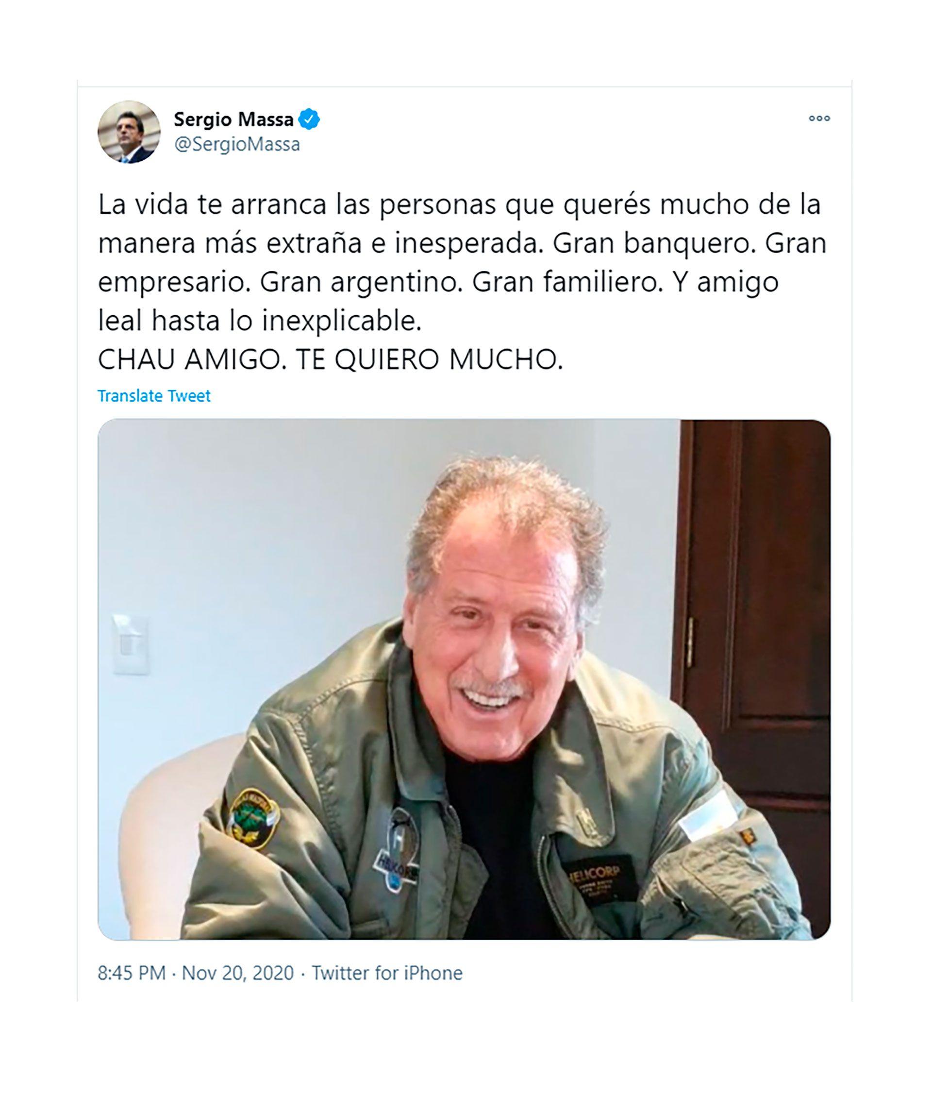 Sergio Massa twitter jorge britto