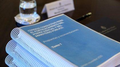 El informe que Consejo Consultivo presentó en la tarde del jueves en la Casa Rosada