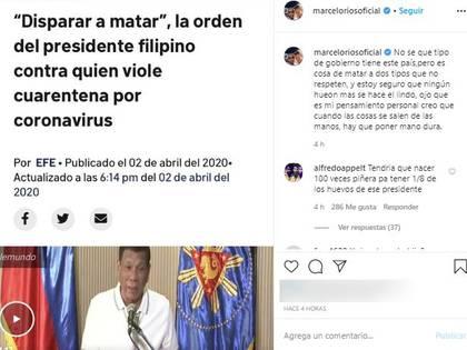 La publicación de Marcelo Ríos