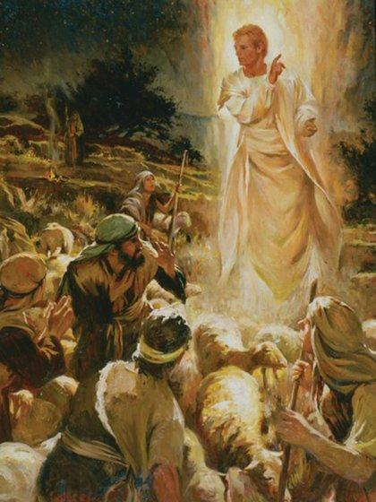 Los pastores reciben el anuncio del ángel, en Belén