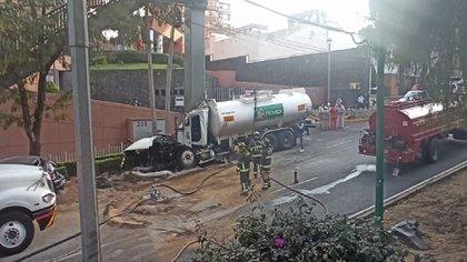 El incidente ocurrió en la carretera Picacho-Ajusco (Foto: Twitter/CNPC_MX)