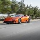 El Lamborghini Huracan EVO que viene con el sistema Alexa de Amazon. (Lamborghini)