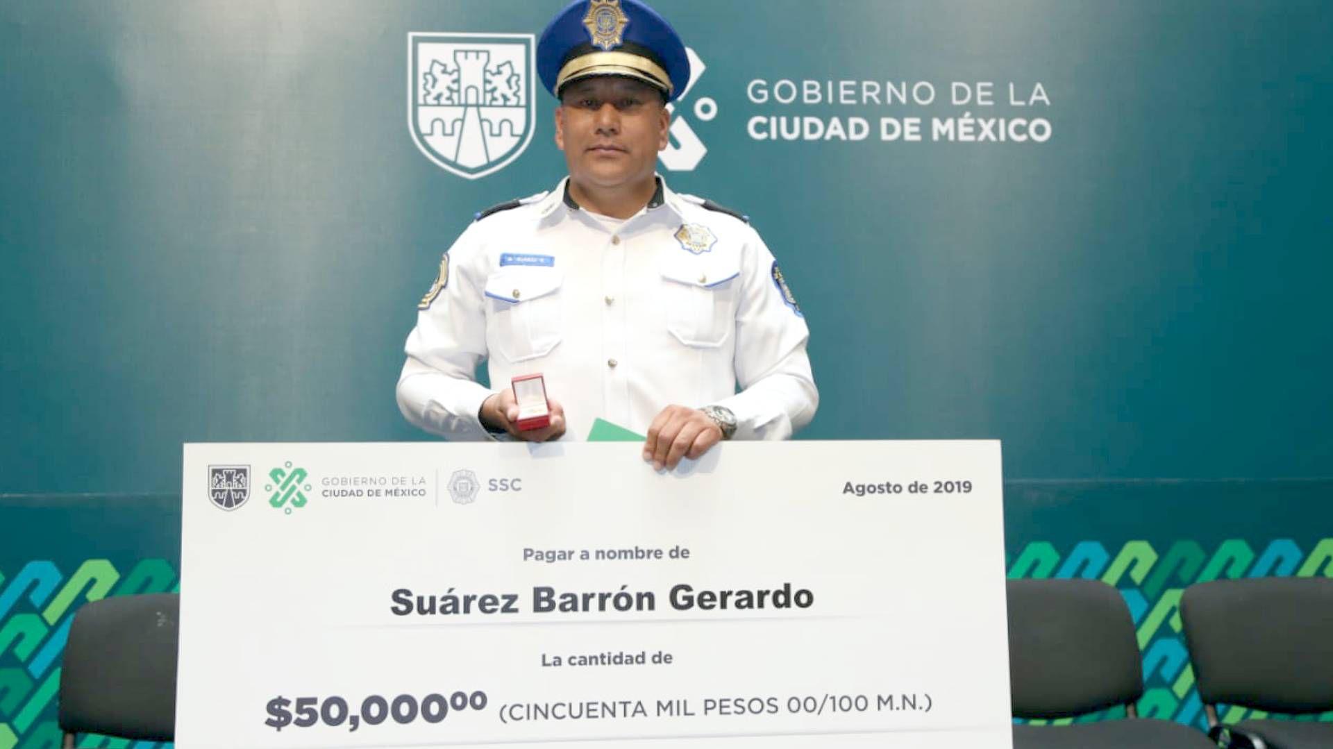 Gerardo Suárez tiene más de 20 años de experiencia como policía (Foto: Twitter SSC CDMX)