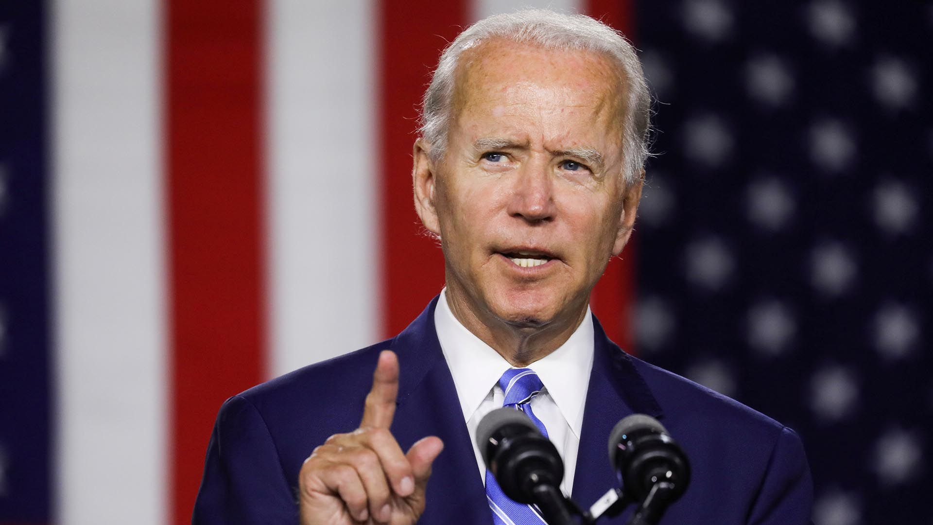 FOTO DE ARCHIVO El candidato presidencial demócrata de Estados Unidos, Biden, habla en un evento de campaña en Wilmington, Delaware.