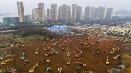 El nuevo hospital tendrá capacidad para atender a mil pacientes (Foto de STR/ AFP/ China OUT)