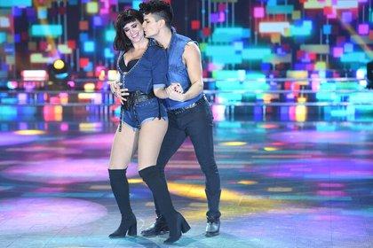 Griselda Siciliani sufrió un accidente durante su coreografía de cuarteto con Nicolás Villaba. Tras su performance, los miembros del jurado le pusieron un bajo puntaje (Foto: Prensa LaFlia)