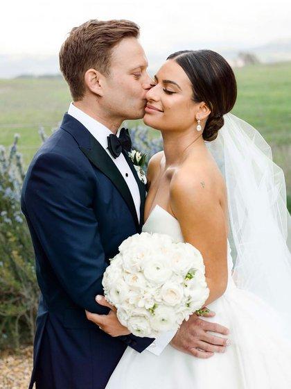 Lea Michele y su esposo se casaron en marzo de 2019 (IG: @leamichele)