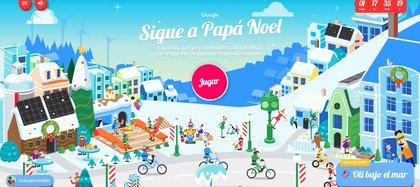 Santa tracker muestra cuentos y juegos interactivos
