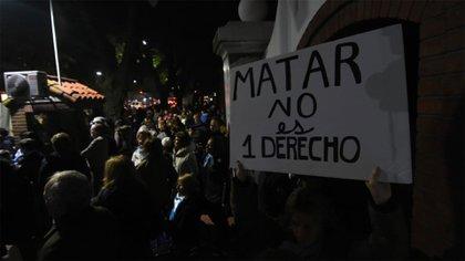 La marcha se llevó a cabo desde las 18 hasta las 21 frente a la residencia de Olivos (Nicolás Stulberg)